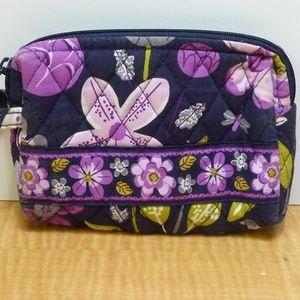 Vera Bradley Bird Flower Cosmetic Makeup Bag Pouch